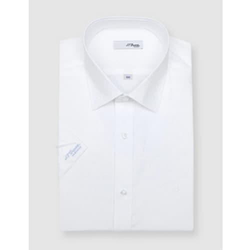 에스티듀퐁  하트 도비 반소매 슬림 셔츠 SD8MM21HS311SWH_이미지