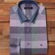 루이까또즈  바이올렛 체크패턴 카라클래릭 원버튼 스냅 셔츠 L53390_이미지