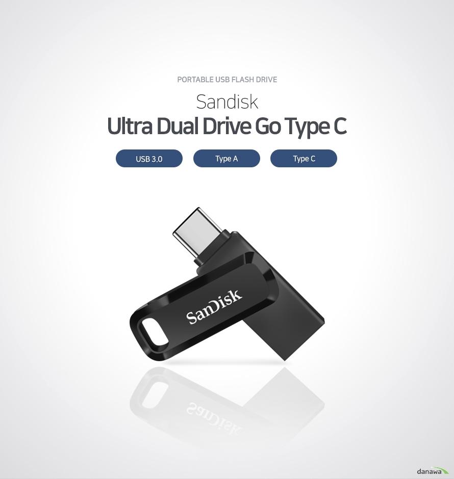 portable usb flash drive Sandisk Ultra Dual Drive Go Type C USB 3.0 Type A Type C  휴대성, 저장성, 안정성을 갖춘 고성능 휴대용 USB 플래시 드라이브 작은 크기와 가벼운 무게로 휴대하기 간편하며 여유로운 저장 공간으로 문서, 사진, 영상 파일을 담아 다닐 수 있습니다. 심플한 구조로 설계되어 안정성 또한 뛰어납니다.   뛰어난 휴대성 뛰어난 휴대성으로 언제 어디서나 간편하게 사용 넉넉한 저장 공간 여러 문서, 음악, 영상 파일을담을 수 있는 넉넉한 저장 공간 제공 안정적인 구조 심플한 내부 구조 설계로 잔고장 없이 안정적인 작동  컴팩트 디자인으로 휴대성을 높였습니다 지갑이나 바지 주머니, 백팩 포켓 등 다양한 곳에 넣어 보관하기 용이하도록 작은 크기로 제작되었습니다.   문서, 사진, 영상 모두 담을 수 있습니다 넉넉한 저장 공간에 수 많은 문서, 고해상도 사진, 고용량 영상을 간편하게 보관할 수 있습니다.   심플한 내부 구조 안정적인 USB 메모리 내부 구조가 간단하며 기계적으로 작동하는 부분이 없기 때문에 잔고장 없이 안정적으로 사용하실 수 있습니다.   단자 보호를 위한 스윙형 구조 결합 부위를 돌려서 보관할 수 있는 제품으로, 뚜껑 분실 우려가 있는 뚜껑형 USB에 비해 안정적인 보관할 수 있 다는 장점이 있습니다.
