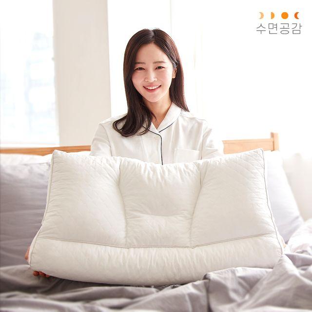 수면공감 우유베개(1개, 68x42cm)