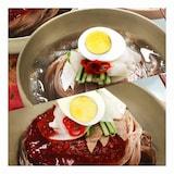 CJ프레시웨이 이츠웰 맛있는 평양 물냉면+비빔냉면 매운맛 10인분  (1개)