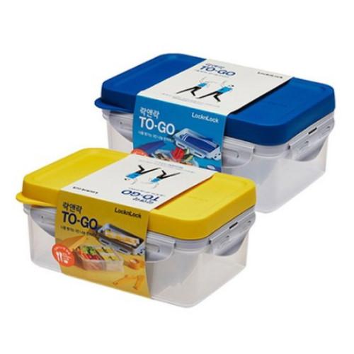 락앤락 TO-GO 3칸 나눔 런치박스 블루 1.2L