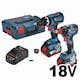 보쉬 GDX 18V-200C+GSB 18V-60C (6.0Ah, 배터리 2개)_이미지