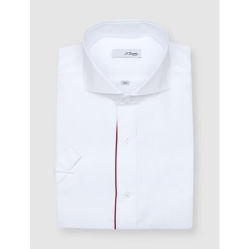 에스티듀퐁  와이드 카라 반소매 슬림 셔츠 SD8MM21HS302SWH_이미지