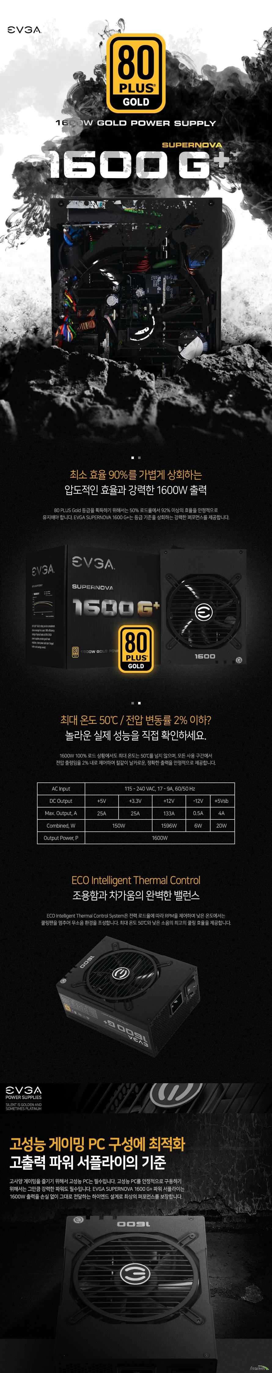 EVGA  SUPERNOVA 1600G+ 80PLUS GOLD