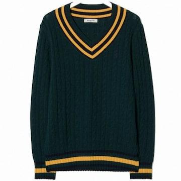 삼성물산 빈폴 그린 크리켓 스웨터 풀오버 BC8951N11M