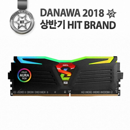 GeIL DDR4 8G PC4-21300 CL19 SUPER LUCE RGB Sync 블랙_이미지