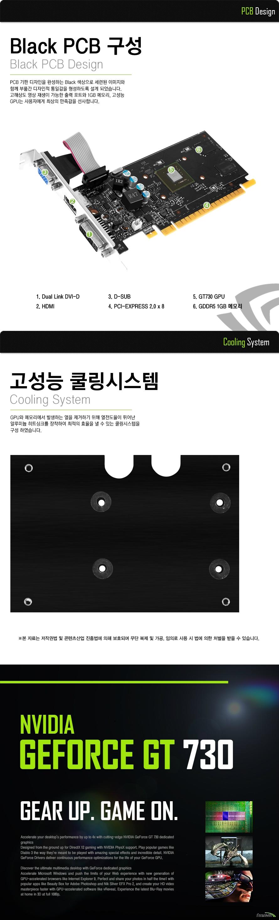 AFOX  지포스 GT730 L3 D5 1GB LP 디앤디컴