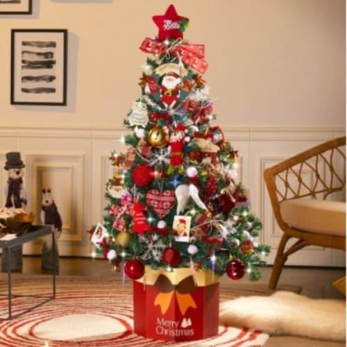 지인데코 하우쎈스 크리스마스트리 풀세트 골드 (140cm)_이미지