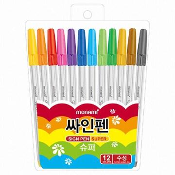 모나미 슈퍼싸인펜 12색