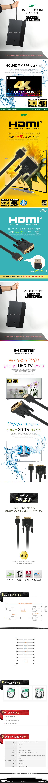 TNT  HDMI 1.4 락킹 to DVI 케이블(2m)