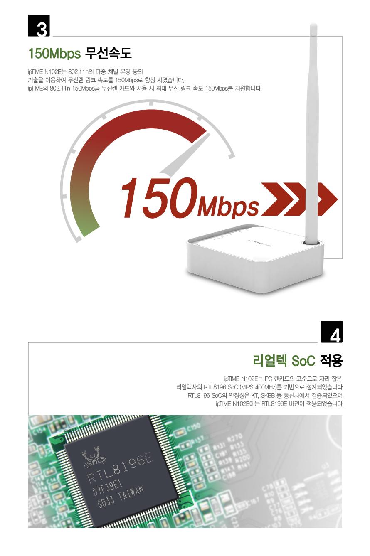 EFM ipTIME N102E 유무선공유기