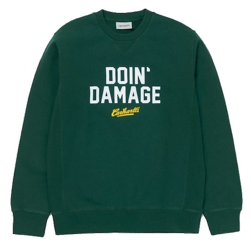 칼하트 칼하트WIP Doin Damage Sweatshirt (HEDGE)_이미지