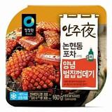 대상 청정원 안주야 논현동 포차스타일 양념벌집껍데기 160g  (4개)