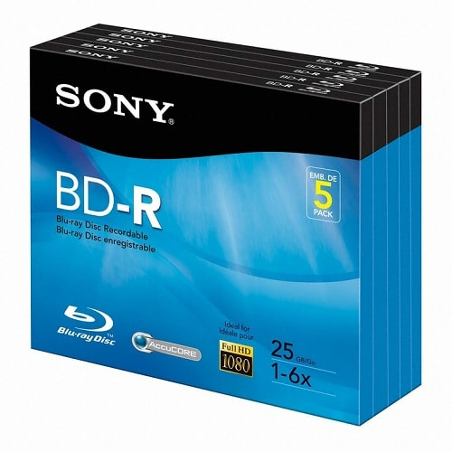 SONY BD-R 25GB 6x 쥬얼 (해외구매, 5장)_이미지