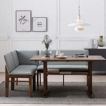 삼익가구 램버트 리빙다이닝 원목 식탁세트 1400(의자2개+벤치1개)