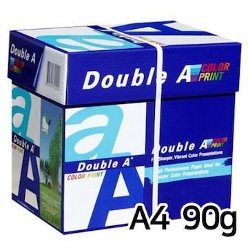 더블에이  컬러 프린트용지 A4 90g (5팩, 2500매)