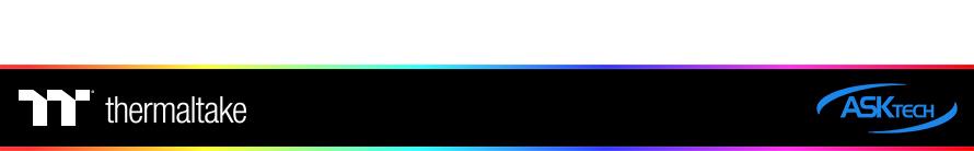 써멀테이크  Riing Duo 12 RGB 라디에이터 팬 TT 프리미엄 에디션