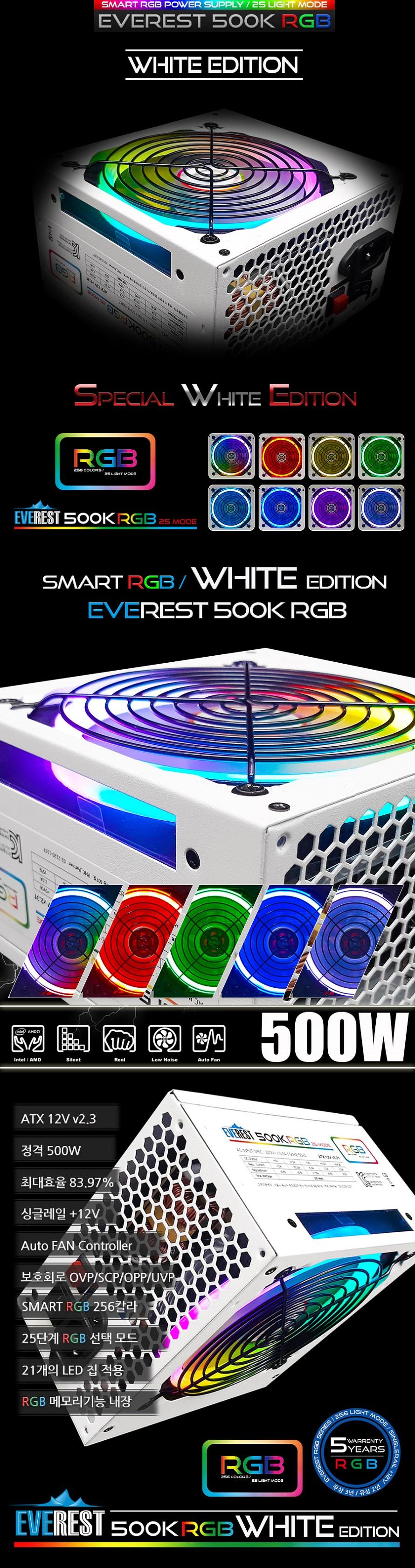 PNC PARTNER   EVEREST 500K RGB White