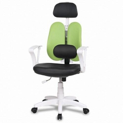 체어클럽  G플러스백 CW형 플러스 화이트바디 요추헤더형 의자 (인조가죽등판)_이미지