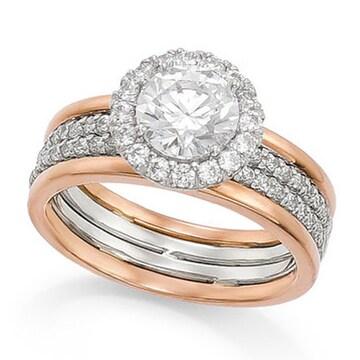 몰리즈 18K 셀리아 1캐럿 다이아몬드 반지