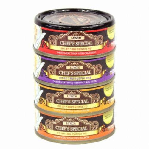 Dream Pet Foods 런치캔 셰프스페셜 80g 4종 콤보(6개)
