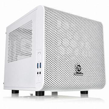 써멀테이크 Core V1 Snow Edition Mini ITX Chassis 마이크로닉스_이미지
