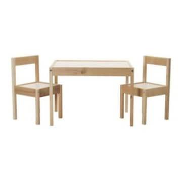이케아  LATT 어린이 테이블+의자2