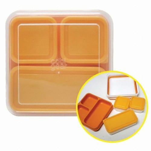 접는 샐러드용기 옐로우 1.57L_이미지