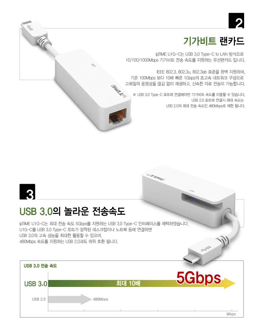 EFM U1G-C USB 3.0 기가비트 랜카드