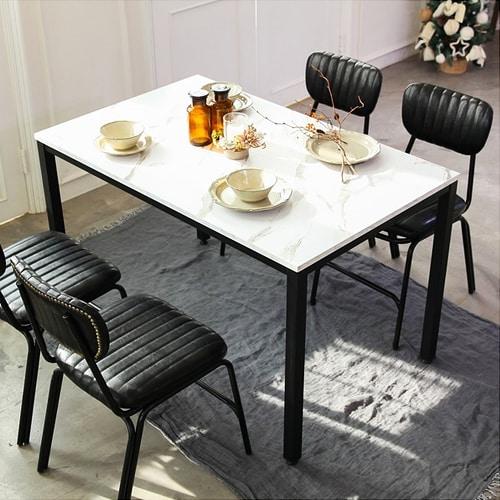 한림우드  쉴링 마블 스틸 식탁 (의자별도)_이미지