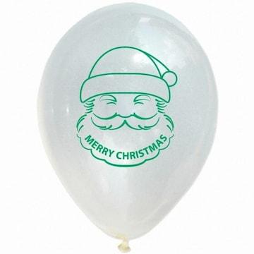 파티해 크리스마스 풍선 30cm - 산타(투명)