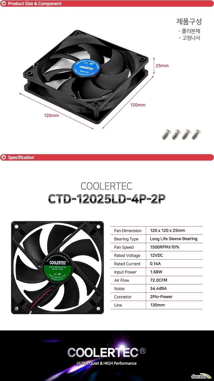 COOLERTEC CTD-12025LD-4P-2P
