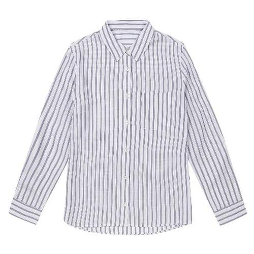 TBH글로벌 베이직하우스 여성 레이온패턴 셔츠형 블라우스 HSBL3202_이미지