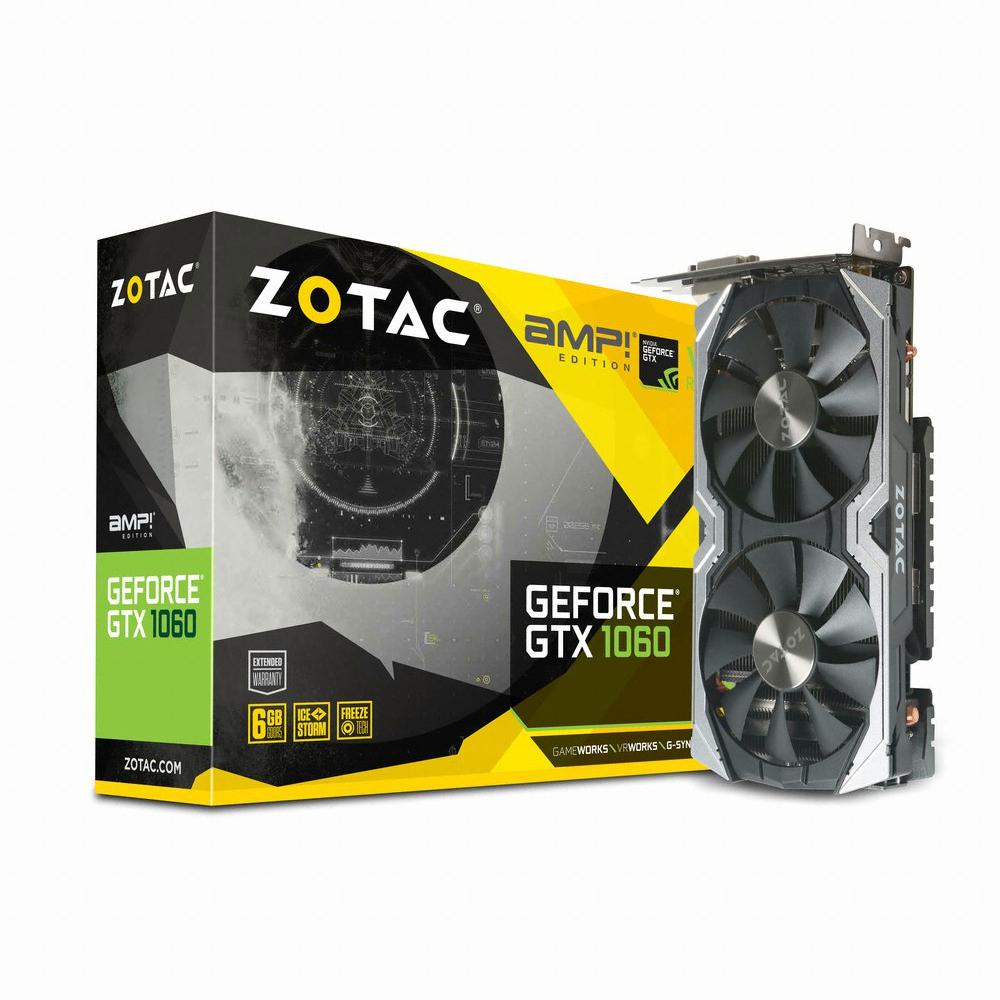 ZOTAC AMP 지포스 GTX1060 D5 6GB 백플레이트