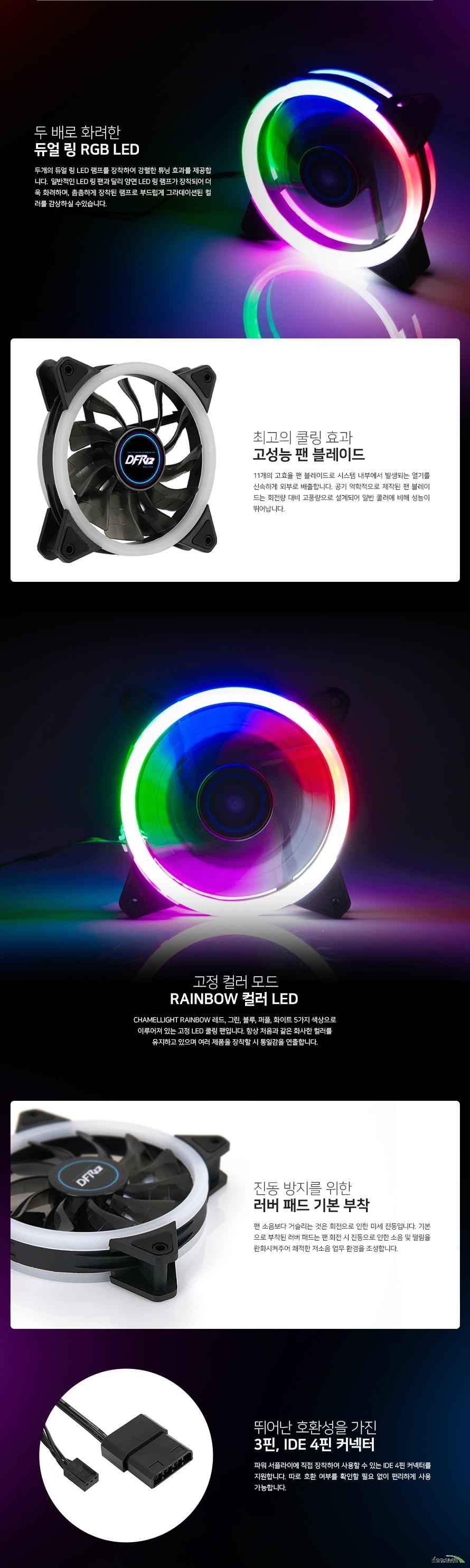 대양케이스  CHAMELLIGHT RAINBOW 120 듀얼링