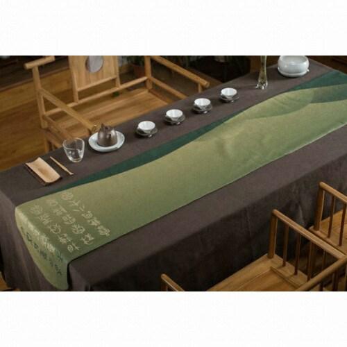 춘(春) 상형문 러너 그린 (150x40cm)_이미지