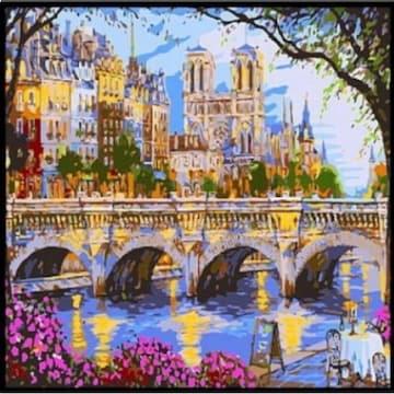 피포페인팅 DIY 명화그림그리기 B985 아름다운유럽도시풍경