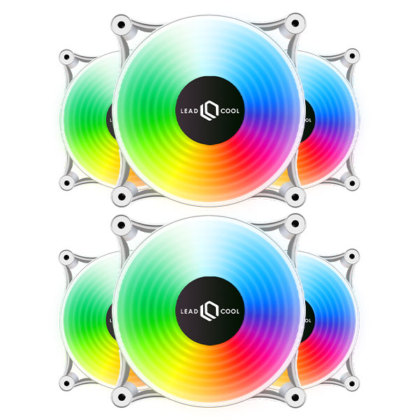 LEADCOOL 120 RGB 레인보우 WHITE (6PACK)