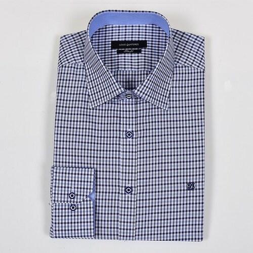 루이까또즈  슬림핏 긴소매 셔츠 Q6C362K_이미지