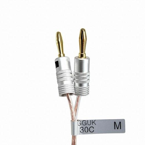 마하링크 국산 GGUK 30C 바나나플러그 케이블 (ML-3GN) (15m)_이미지