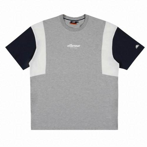 엘레쎄 블로킹 루즈핏 반팔 티셔츠 EJ2UHTR387 MG_이미지