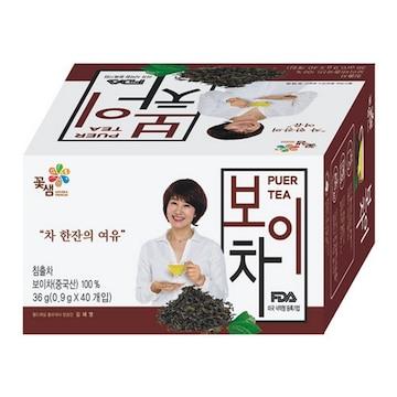 꽃샘식품 보이차 40T(1개)