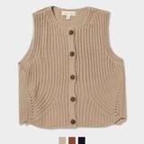 이랜드 후아유 여성 버튼 스웨터 베스트 WHKA74915F_이미지