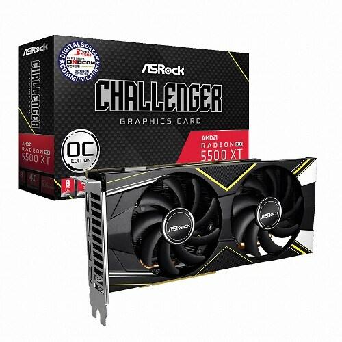 ASRock 라데온 RX 5500 XT CHALLENGER D OC D6 8GB 디앤디컴_이미지