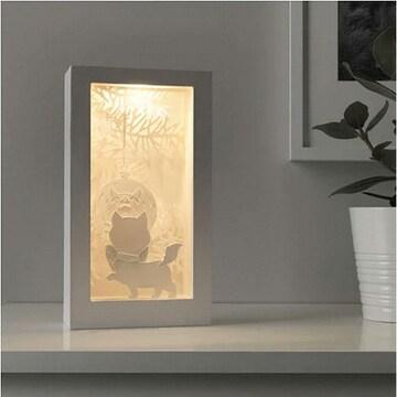 이케아 LED STRALA 화이트 고양이 테이블조명