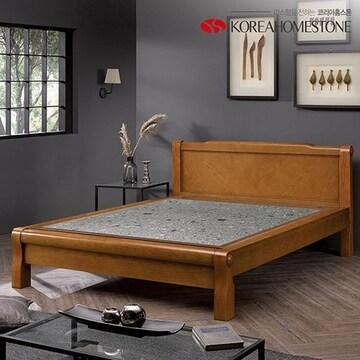 코리아홈스톤  엘루세 모던 침대 Q (그린맥반석)