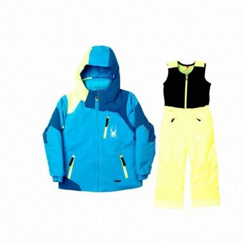 스파이더  미니 리더 아동자켓+익스페디션 팬츠 세트 155202+155218 블루+레몬_이미지