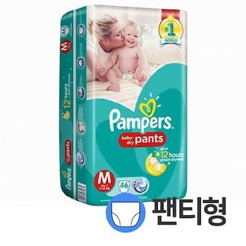 팸퍼스  베이비 드라이 팬티 3단계 공용 (184매)