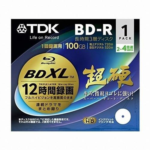 TDK  BD-R XL 100GB 4x 프린터블 쥬얼 (해외구매, 1장)_이미지